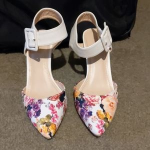 Floral small heels